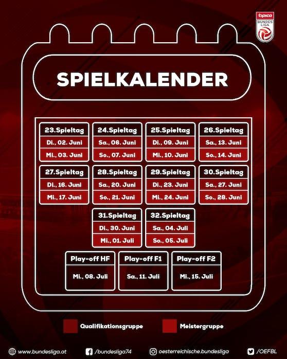 Der Bundesliga-Spielkalender