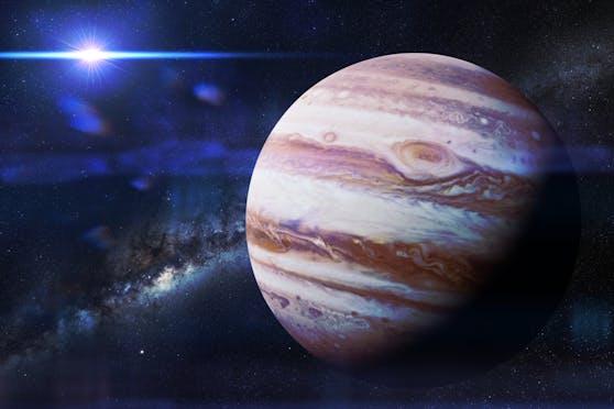 Der Jupiter ist der größte Planet unserer Sonnensystems.