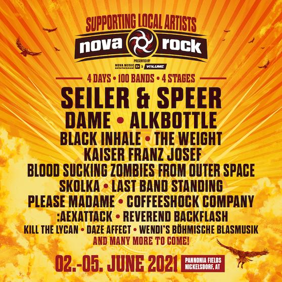 Nova Rock 2021 - die ersten (heimischen) Bands stehen fest