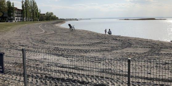 Der Neusiedler See hat durch mangelnden Niederschlag an Pegelstand eingebüßt