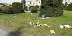 Wiener müllen Rasen vor Museen mit Bierdosen zu