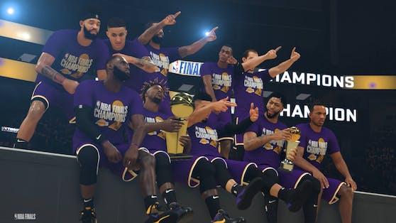 NBA 2K verkündet den Sieg der Lakers in den #2KSim NBA Finals