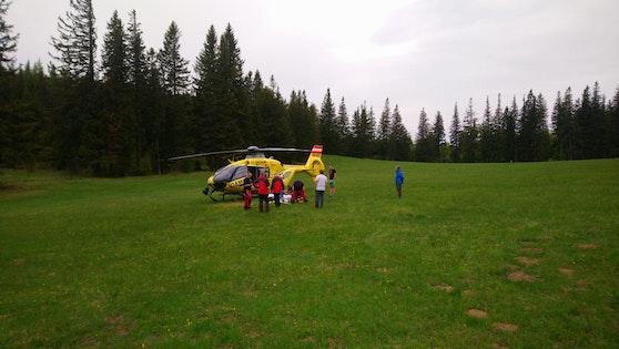 Ein Foto vom Helikopter-Einsatz.