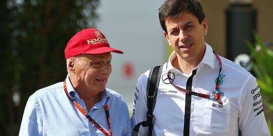 Niki Lauda (l.) mit Toto Wolff