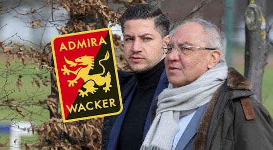 Amir Shapourzadeh (l.) verlässt die Admira, Felix Magath bleibt.