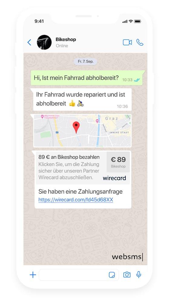 websms und Wirecard ermöglichen smartes Einkaufen via SMS und Messenger.
