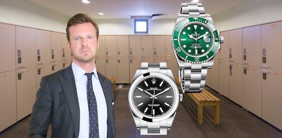 Philipp Wolm verteidigt die Rolex-Bande.