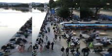 Am Wiener Donaukanal herrschte Festival-Stimmung