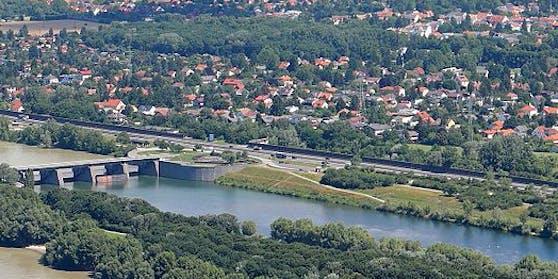Blick auf die A22 in Langenzersdorf