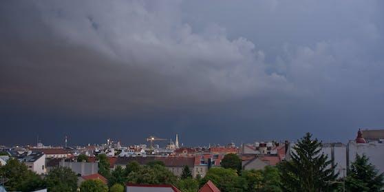 Gewitter über Wien.