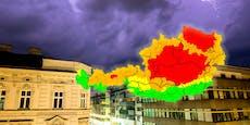 Warnstufe ROT: Unwetterfront hat nun auch Wien erreicht