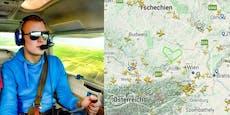 """""""Heute""""-Leser fliegt Herz-Runde für Österreich"""