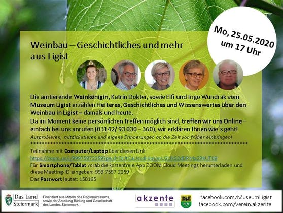 Zu einem kostenlosen Online-Seminar lädt am Montag die Gemeinde Ligist
