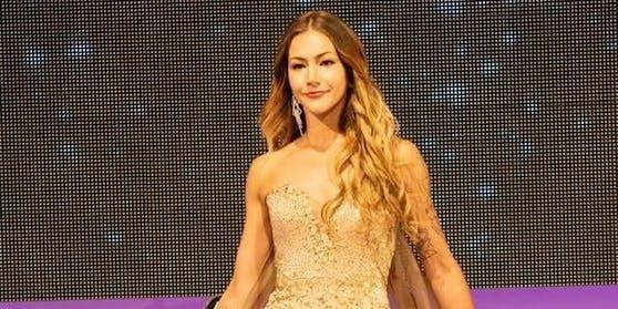 "Amber-Lee Friis bei der Wahl zur ""Miss Universe New Zealand"" 2018"