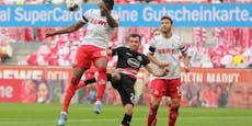 2:2! Köln rettet einen Punkt im Rhein-Derby