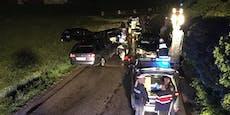 2 Männer im Kofferraum: Lenker raste Polizei davon