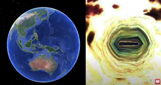 Der US-Amerikaner Scott Waring will auf einer indonesischen Insel eine Alien-Basis entdeckt haben.