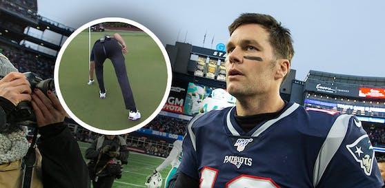 NFL-Star Tom Brady sorgt beim Golfen für Lacher.