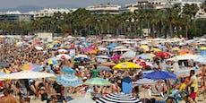 Urlauber-Stau am Strand in Griechenland droht