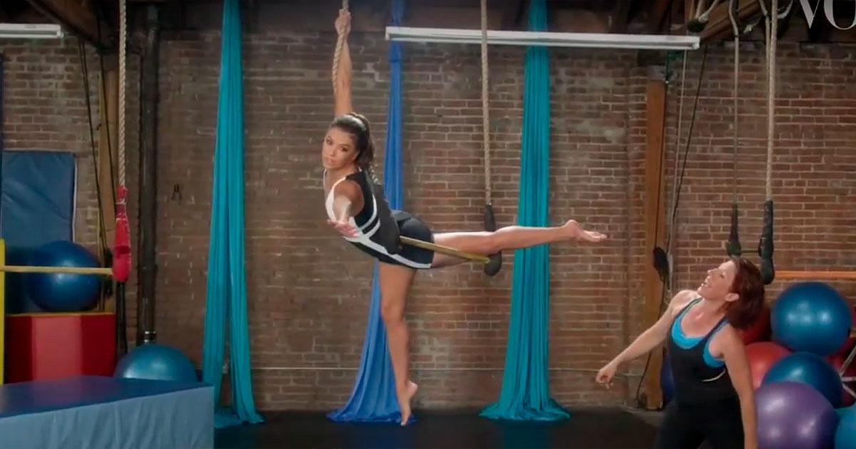 "Fitnesstrend im Test: ""Zirkustraining"" mit Eva Longoria"