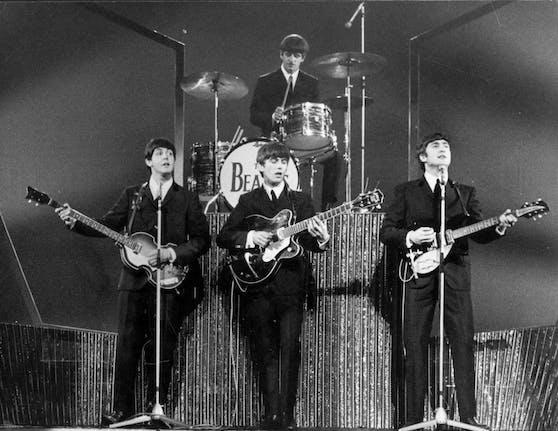 Die Beatles bei einem Auftritt in London.