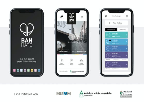 Erweiterung der BanHate-App: Hasskriminalität in Österreich soll erstmals sichtbar gemacht werden.