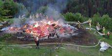 """""""Häuslalm"""" brannte in den frühen Morgenstunden ab"""
