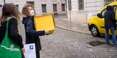 Kanzler Kurz erhält Postkarten mit Klima-Forderungen