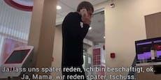 Bankräuber (27) telefoniert bei Geiselnahme mit Mama