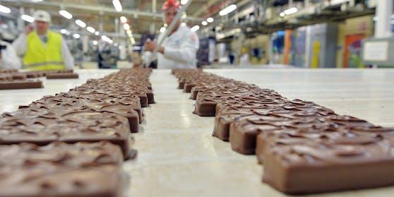 Eine Schokoladenfabrik des Mars-Konzerns