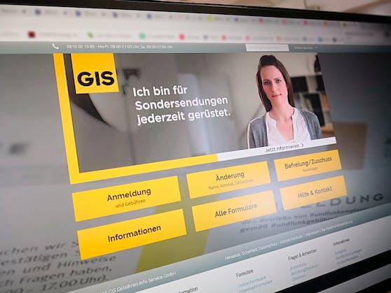 Die GIS-Webseite des Gebühren Info Service: Die Gebühr könnte bald so gut wie alle treffen.