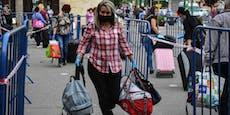 Rumänische Pflegerinnen zu Fuß über Grenze