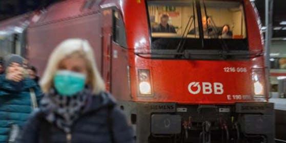Die ÖBB führen ab 21. September die Maskenpflicht am Bahnsteig wieder ein
