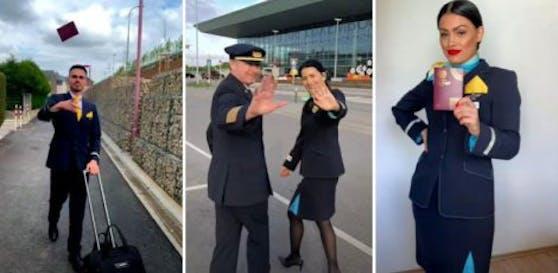 Das Luxair-Personal startet mit der#DontRushChallenge durch