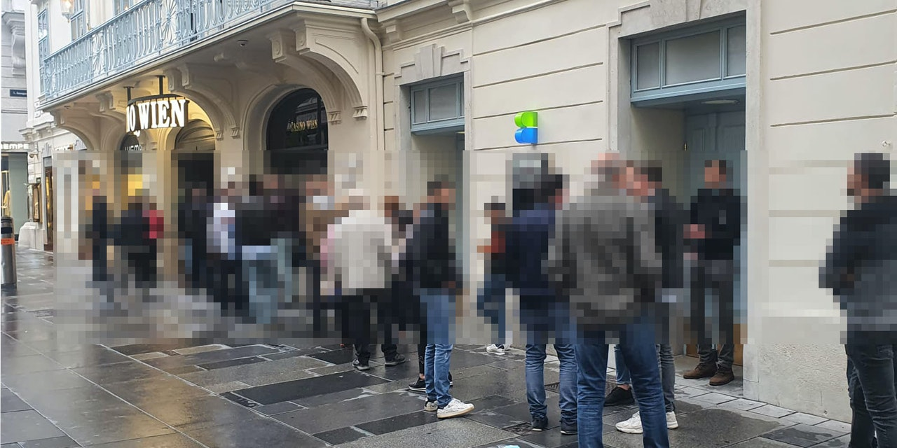 Jetzt stehen die Menschen vor Wiener Casino Schlange