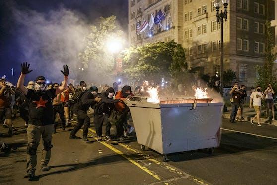 Die Proteste in den USA dauern an.