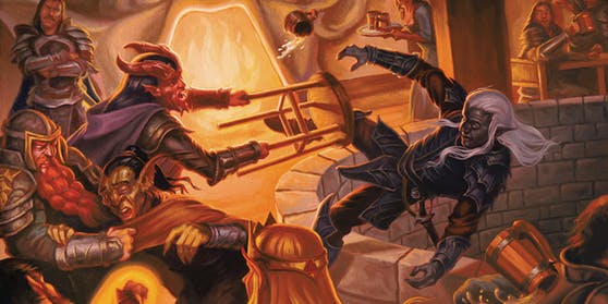 """Kommen durchaus auch mal vor in """"Dungeons & Dragons"""": Kneipenschlägereien."""