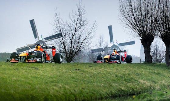 Red-Bull-Boliden rasen durch die Niederlande