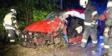 Lenker musste nach Crash gegen Baum reanimiert werden