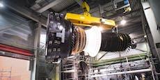 98-Tonnen-Turbine für das Kraftwerk Theiß
