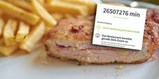 Wiener bestellt Cordon Bleu und muss 50 Jahre warten