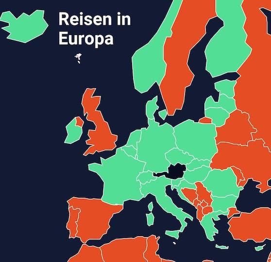 Reisen in diese Länder sind ab dem 16. Juni wieder möglich.