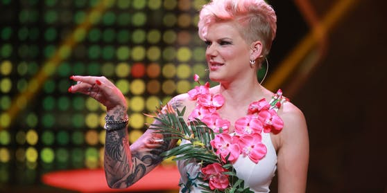 Melanie Müller bei der RTL TV-Show Ich bin ein Star - Lasst mich wieder rein! 2015