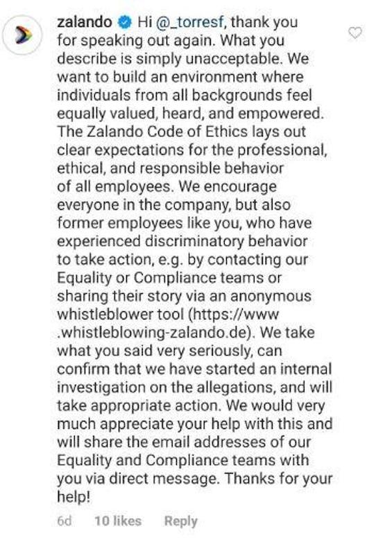 Das Unternehmen nehme das Ganze ernst und starte aus diesem Grund eine interne Untersuchung.