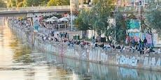 """Party, Müll, Massen: """"Aktion scharf"""" am Donaukanal"""