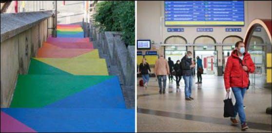 Der Bahnhof in Luxemburg-Stadt ist ein wenig bunter geworden.