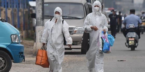 Neuer Corona-Fall: Beamte riegelten in der Hauptstadt Peking elf Wohngebiete ab.