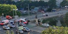 Gruppe attackiert Männer mit Scherben bei Donaukanal