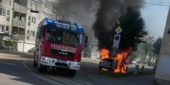 Autobrand in Wien-Hietzing