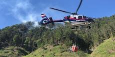 Brand aus! 150 Kräfte ringen Waldbrand bei Graz nieder